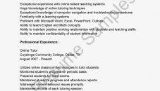 resume exle for students how to write an resume esl tutor exle proideo co for