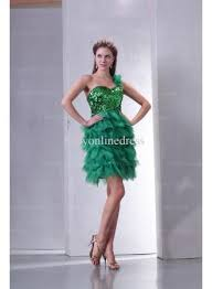 best cocktail dresses 2017 one shoulder sequin chiffon green short
