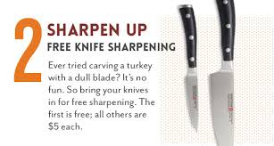 sur la table knife sharpening free sur la table the weekend s almost here here s what s happening