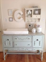 shabby chic nursery buffet converted to changing table katie
