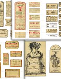107 digital download vintage apothecary labels anitque