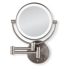 zadro lighted makeup mirror amazon com zadro satin nickel cordless led lighted wall mount