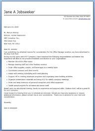 office cover letter sample best letter sample