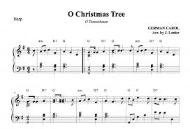 o christmas tree o tannenbaum for harp janet lanier
