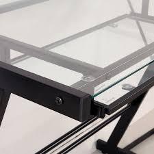 3 piece glass desk walker edison 3 piece imperial desk black w clear glass d51z29