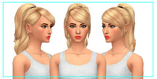 the sims 4 cc hair ponytail they call me fred