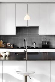 contemporary black kitchen cabinets 50 black countertop backsplash ideas tile designs tips