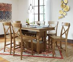 ashley trishley counter high dining set dream rooms furniture