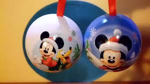 mickey mouse christmas tree decorations surprise baubles balls