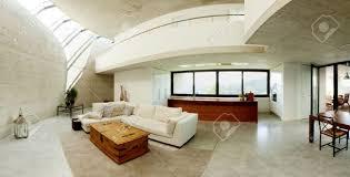 Wohnzimmer Modern Beton Interieur Moderner Beton Haus Wohnzimmer Lizenzfreie Fotos