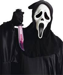 ghost face scream mask scream movie ghost face mask u0026 knife set licensed brand new