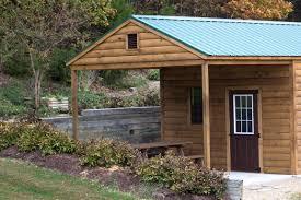 14x32 garage 2 door log siding porch detail 2 medium byler barns