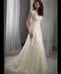 brautkleider a line elegante tüll a linie wulstige spitze brautkleider wedding