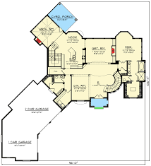 4 bed european style house plan with turreted stair 890001ah