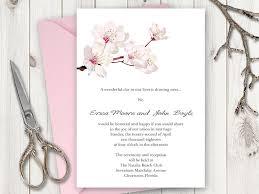 cherry blossom wedding invitations wedding invitation printable template cherry