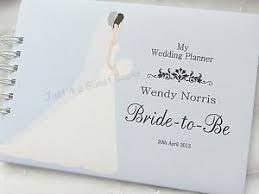 wedding planner journal personalised wedding planner to be journal note book any