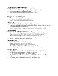 Paraprofessional Job Description For Resume by Leandrea Humphrey Resume 1 1