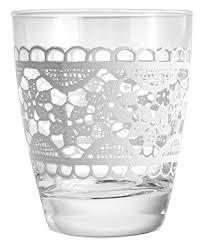 bicchieri cerve cerve merletto 3 bicchieri vetro trasparente 8 x 8 x 9 5 cm