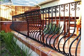 iron deck railing for home and garden
