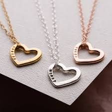 love heart chain necklace images Personalised love heart necklace by posh totty designs jpg
