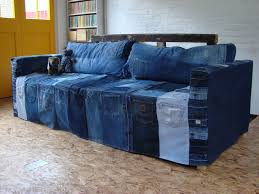 Denim Sofa Slipcovers by Buncee Cool Ideas For Old Jeans