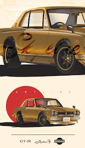 nissan skyline png nissan skyline gt r hakosuka high detailed illustration on behance