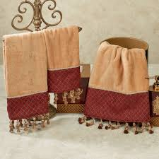 Home Design Brand Towels Montecito Beaded Tasseled Bath Towel Set