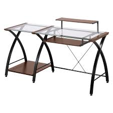 wood metal desk z line brisa desk cherry hayneedle