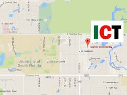 Map Of Tampa Area Ict Islamic Community Of Tampa