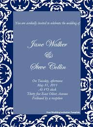Wedding Invitation Card Sample In Free Wedding Invitation Templates For Word Theruntime Com