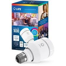 lifx color 1000 a19 smart led light bulb walmart com