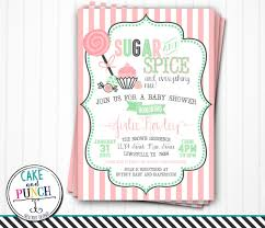 sugar and spice baby shower sugar and spice baby shower invitations baby shower invitation