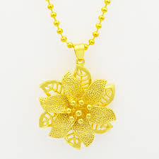 long flower necklace images Gold mandala indian rose flower pendant necklace fashion jewelry jpg