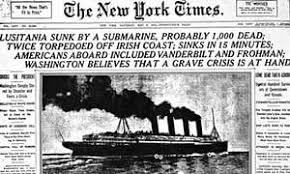 sinking of the lusitania lusitania divers warned of danger from war munitions in 1982 papers