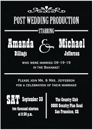 post wedding reception invitations lovely post wedding celebration invitations and beautiful at home