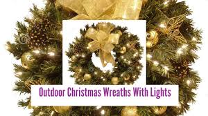 outdoor wreaths with lights