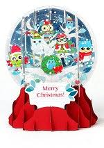 pop up snow globe greetings 3d cards