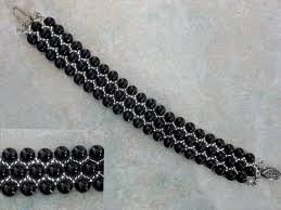 pearl beaded bracelet images Free pattern for beaded bracelet black pearl beads magic jpg