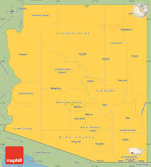 Arizona Maps by Savanna Style Simple Map Of Arizona