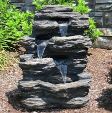 Rock Garden With Water Feature 24 Rock Waterfall Garden W Led Lights