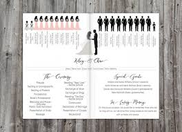 programs for a wedding ceremony wedding programs silhouette wedding program order of ceremony