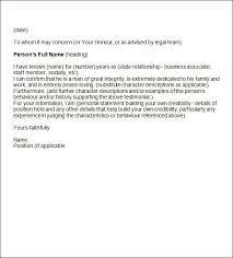 example of character reference letter for a friend u2013 letter