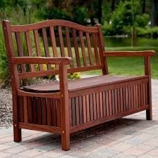 Outside Storage Bench Teak Storage Benches Foter