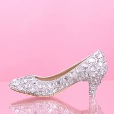 wedding shoes low heel pumps rhinestone pumps silver promotion shop for promotional rhinestone