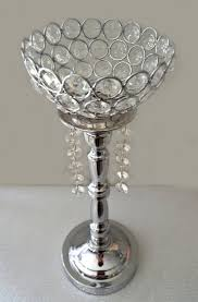 silver bling rhinestone flower stand or candle holder wedding