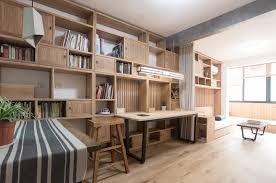 Small Chinese Apartment Mixes Modern And Traditional Elements - Traditional apartment design