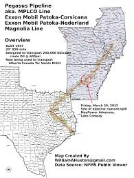Ar Map Billhustonblog Exxon Mobil Pegasus Pipeline Map