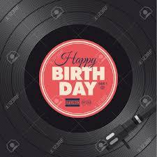 happy birthday card vinyl illustration background vector design