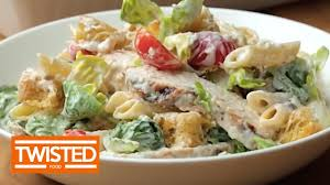 chicken bacon caesar pasta salad twisted youtube