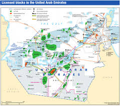 map of the uae licensed blocks in the united arab emirates map gulf states news